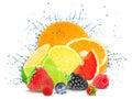 Citrus splash and ice