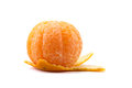 Citrus tangerine orange fruit isolated on white background half peel Royalty Free Stock Photography