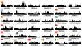 City skyline European countries Royalty Free Stock Photo