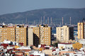 City of algeciras spain with oil refinery in background andalusia Stock Photography