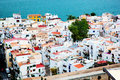 City architecture by the sea, Ibiza, Spain Stock Images