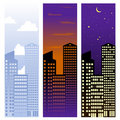 City banners Royalty Free Stock Photography