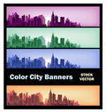 City banners Royalty Free Stock Photo