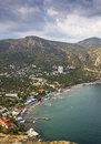 City beach settlement of the new world on black sea in crimea Royalty Free Stock Image