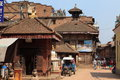 The city bhaktapur nepal old in kathmandu Royalty Free Stock Photo