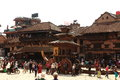 The city bhaktapur nepal old in kathmandu Stock Photography