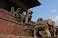 The city bhaktapur nepal old in kathmandu Royalty Free Stock Images