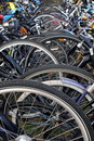 City Bicycle Parking In Holland Royalty Free Stock Photo
