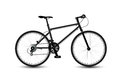 City bike black bicycle on the white background Stock Photos
