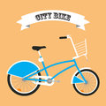 City bike vector icon.