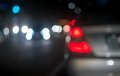 City blur background bokeh circles of night traffic Stock Photo