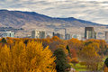 City of Boise Idaho with autumn colors Royalty Free Stock Images