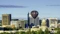 City of Boise Idaho skyline and hot air balloon Royalty Free Stock Photo