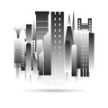 City building black icon design in vector format on white background Royalty Free Stock Photo