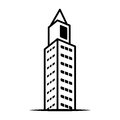 City building icon image Royalty Free Stock Photo