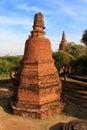 City building remain buddha statue remain of wat phra sri sanphet temple in ayutthaya thailand phra nakhon si ayutthaya x Royalty Free Stock Photography