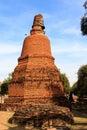 City building remain buddha statue remain of wat phra sri sanphet temple in ayutthaya thailand phra nakhon si ayutthaya x Royalty Free Stock Image