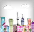 City buildings architecture house set Royalty Free Stock Photography