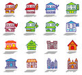 City & buildings icons set Royalty Free Stock Image