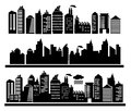 City buildings vector illustration Royalty Free Stock Photos