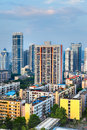 City buildings view of a chinese office building apartment building in south china Royalty Free Stock Photo