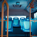 City bus seat Royalty Free Stock Photo