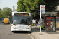 City bus southampton a collects passengers for the airport england july Stock Image