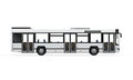 City bus on white background d render Stock Photo