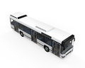 City bus on white background d render Stock Photos