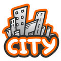 City cartoon creative design of Stock Photography