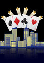City casino illustration of with four aces poker Stock Photography
