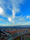 The city of celje skyline a bird s eye view from fortress castle Royalty Free Stock Photography