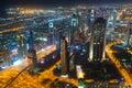 City centre of Dubai at night Royalty Free Stock Photo