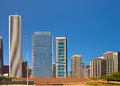 City of chicago usa panorama of downtown architecture on a beautiful summer day with blue sky Stock Photos