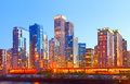 City of chicago usa sunset colorful panorama skyline downtown with illuminated business buildings Royalty Free Stock Images