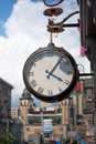 City clock in downtown Royalty Free Stock Photo