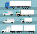 City commercial transport isolated set