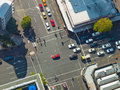 City crossroad scene Royalty Free Stock Photos