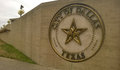 City of dallas sign at the hall downtown tx Royalty Free Stock Photography