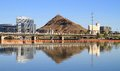 A city in the desert of Arizona: Tempe Royalty Free Stock Image