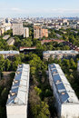 City districts in summer afternoon moscow Stock Image