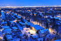 City edmonton winter night Royalty Free Stock Image