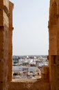 The city of El Djem in Tunisia Stock Photos