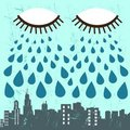 City and eye vector Stock Photography