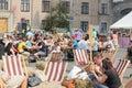 City fair ukrainian goods food area made kontraktova area the of kiev ukraine Royalty Free Stock Image