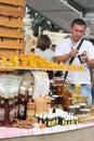 City fair ukrainian goods food area made kontraktova area the of kiev ukraine Stock Images