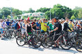 City festival bike ride Royalty Free Stock Photo