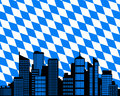 City and flag of Bavaria