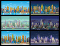City Game Backgrounds Set ,2d game application.