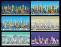 City Game Backgrounds Set. With retro cars ,2d game application .